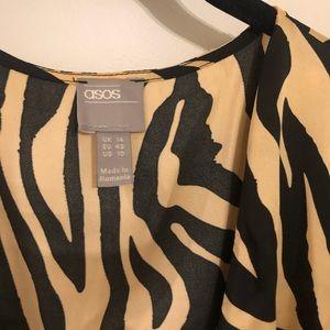 ASOS Dresses - ASOS zebra print multi color dress